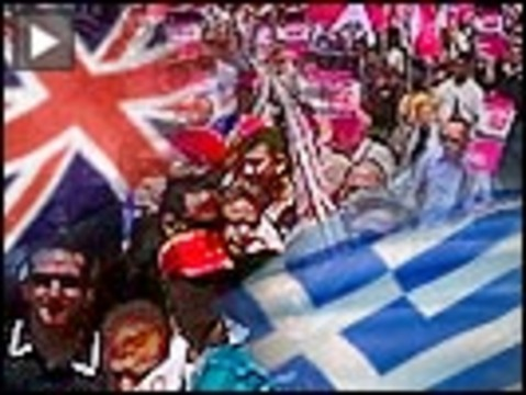 Greek uk protest