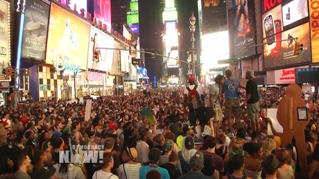 Times square mass protest