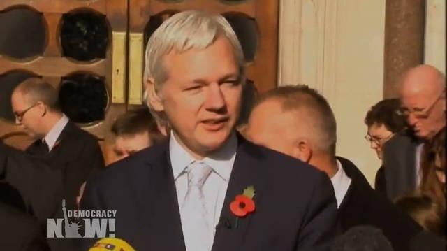 Button assange