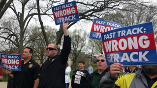 Tpp fast track protest capitol 1