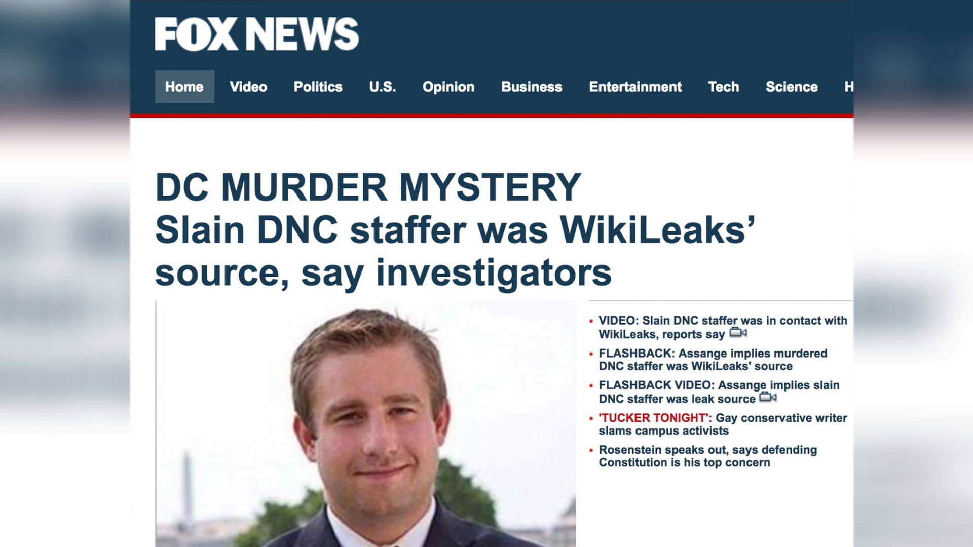 Explosive Lawsuit: White House & Fox Peddled Seth Rich ...