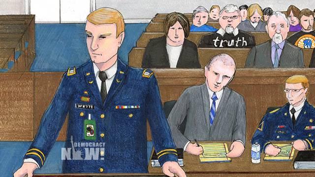 Bradley manning trial sketches